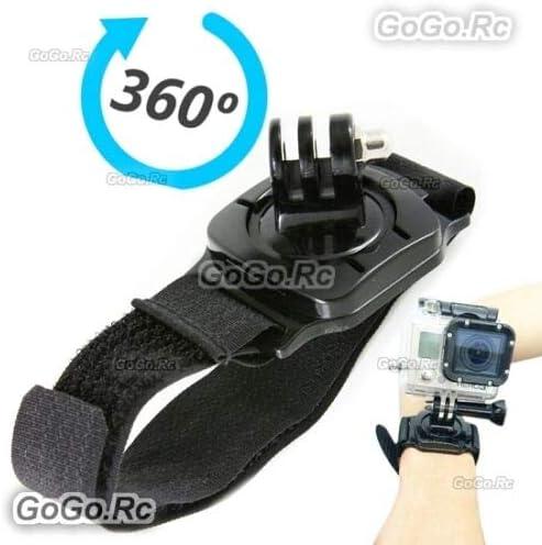 GP27 GoGoRc 360/° Degree Rotating Wrist Strap Mount Adapter for GoPro Hero 4 3+//3//2//1