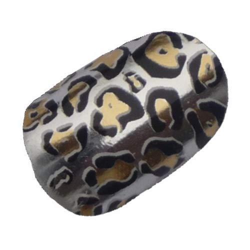 Chix Nails - Silver Chrome Jaguar Animal Print Nail Wraps Foils Decals Stickers chr12