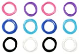 Party Favor Smooth Latex Free Silicone Bracelet Sets for Girls Boys Teens (144 Total Bracelets) Assorted Colors - Great Birthday Party Favors