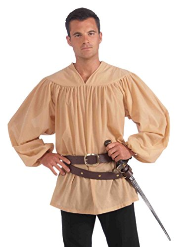 [Forum Novelties Men's Extra-Large Medieval Costume Shirt, Beige, X-Large] (Medieval Mens Costumes)