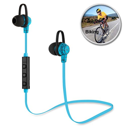 Wireless Bluetooth Headphone, Gotd In-Ear Stereo Sports Headphone Earbuds Headset Earphone for iPhone Samsung, Blue