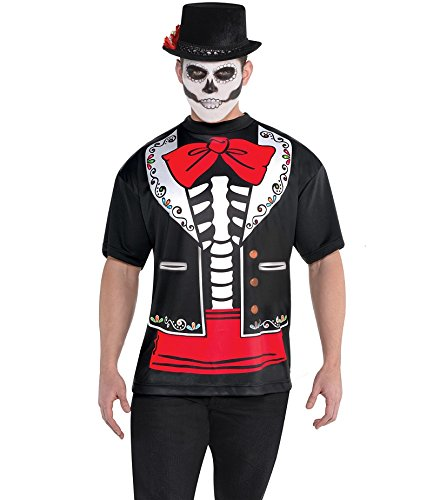 (AMSCAN Day of the Dead T-shirt for Men, One)