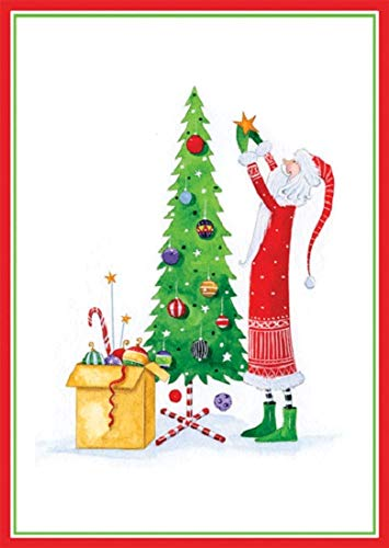Funny Christmas Cards Happy Holiday Cards, Boxed Christmas Cards, Skinny She Santa Merry Christmas Card, 16 Holiday Greeting Cards - Inside: Wishing You Christmas Cheer and a Happy New Year (Merry Christmas And Happy New Year Greeting Card)