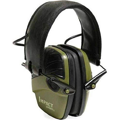 Howard Leight by Honeywell R-01526-PK2 2-Pack Impact Sport Sound Amplification Electronic Earmuff, Classic Green (R-01526-PK2), Classic Green
