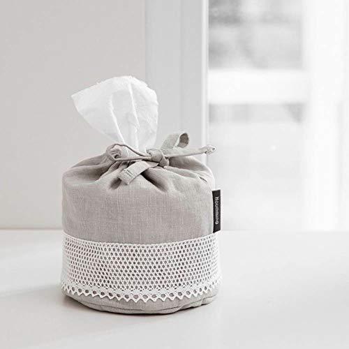 Houmming Linen/Cotton Crochet Circular Tissue Cover