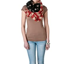 Riverberry Womens Vintage American Flag Infinity Scarf, American Flag, One Size
