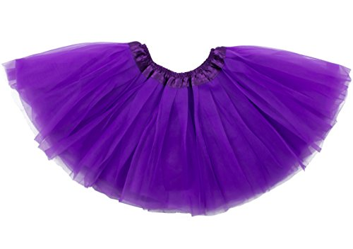 Dancina Tutu Girl's Cosplay Mardi Gras Parade School Performance Event Tulle Skirt 2-7 Years Purple