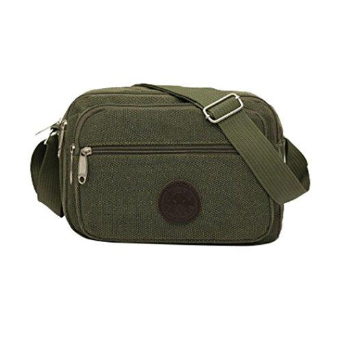Morwind Outdoor Bag Shoulder Canvas Coin Bag Shoulder Messenger Phone (khaki) Green
