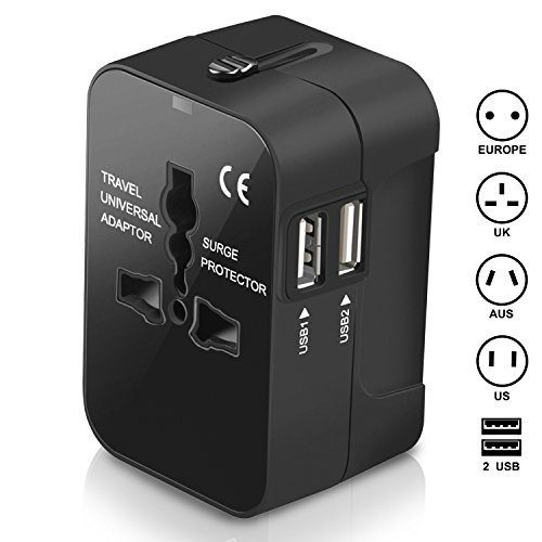 Travel Adapter, Amoner International Power Plug Converter UK Plug Adapter Kits with...