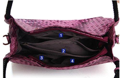 Ladies In Borse Pezzi Madre Bag Tre Moda Pattern Pacchetto Pelle Nuove Addora Blue Nappa Weave Semplice Donna Pu qvw5v0d