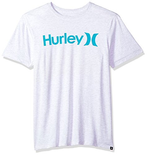 (Hurley Men's Premium Short Sleeve Logo Tshirt, Birch Heather, M)