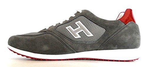 Hogan Scarpe Sneaker Uomo H205 Olympia X H Flock HXM2050U670C5C888J Grigio Rosso 40.5 (6.5)