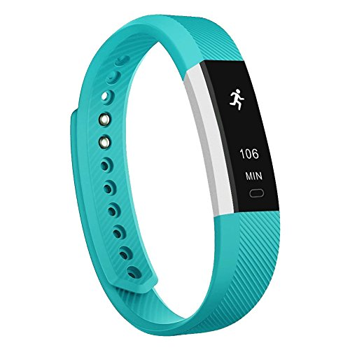 - Teslasz Fitness Tracker, Sleep Monitor Calorie Counter Pedometer Sport Activity Tracker for Android and iOS Smart Phone,Silver/Teal