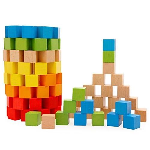 hot sale Lewo Jeux de Construction Cube Blocs en Bois Jouets ...