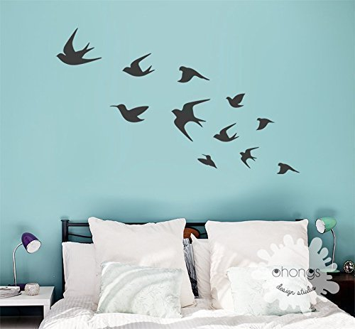 c6af4f1da5 Image Unavailable. Image not available for. Color: Bird Wall Decal/Flying  ...