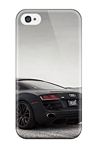 For Iphone 4/4s Tpu Phone Case Cover(audi R8 34)