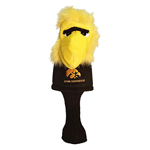 Team Golf NCAA Iowa Hawkeyes Mascot Golf Club Headcover, Fits most Oversized Drivers, Extra Long Sock for Shaft Protection, Officially Licensed ()