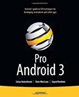 Pro Android 3 Front Cover