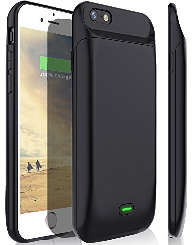 iPhone 6s Plus/6 Plus Battery Case, Stoon 7200mAh Portable Charger Case Rechargeable Extended Battery Pack Protective Backup Charging Case Cover for Apple iPhone 6s Plus/6 Plus (5.5 Inch) (Black)