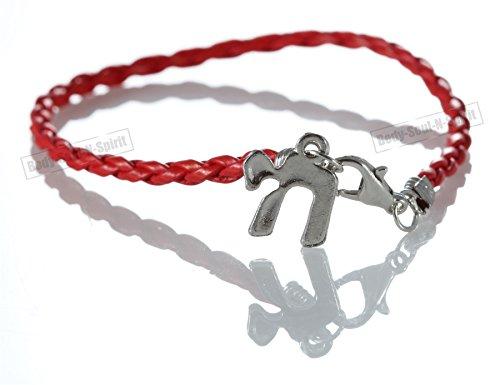Chai Red String Braided Bracelet Lucky Charm Pendantt Kabbalah Jewish Jewelry