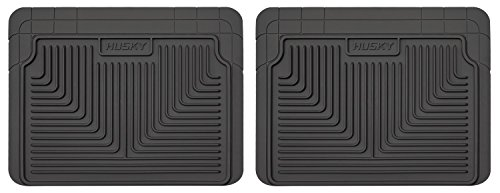 Husky Heavy Duty Floor Mats, 2pc 2nd Seat Mats, Color: Black 52021
