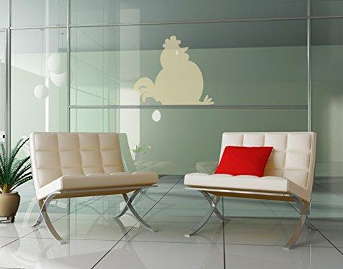 Apalis Vinilo de Ventana no.UL895 Fat Hen Sitting Idle, Colore:Azzurro;Colore:Lampone;Dimensione:35cm x 36cm