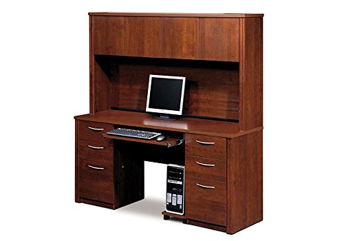 Embassy Computer Credenza with Hutch Tuscany Brown Dimensions: 66