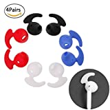 Hacloser 4 Pairs Headset Earphone Earbuds Cover Eartip Replacement with Ear Hook for Samsung S6 level u earbuds EO-BG920