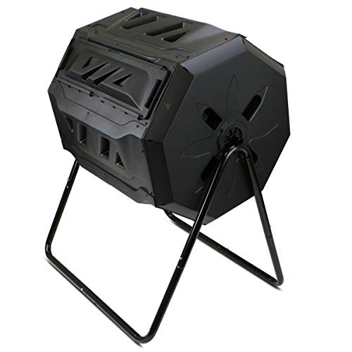 Antik shop Composter Tumbler Yard Garden Waste Bin Grass Food Trash Fertilizer Lawn Leave