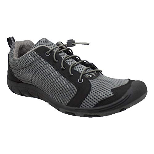 RocSoc: Water Shoes for Men, Aqua Shoes & Beach Shoes for Kayaking, Swimming, Surfing & Snorkeling, Must Have Scuba Gear for Water Sports, Grey Size 13