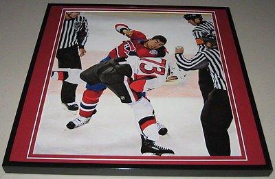 Jarkko Ruutu vs Francis Bouillon Framed 12x12 Poster Photo 2008 Senators