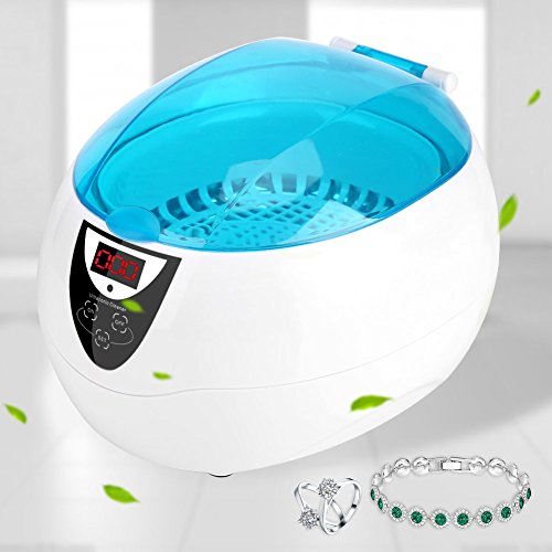 750mL Professional Touch Control Ultrasonic Cleaning Machine, Jewelry Cleaner Machine fit for Jewelry, Eyeglass, Watch, Necklaces, Rings, Coins, Combs and Others (US Plug)