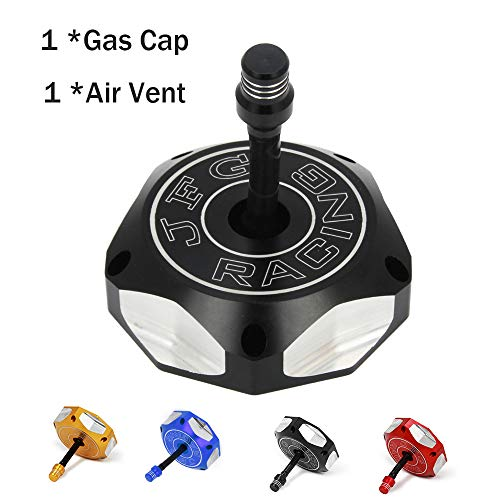 CNC Gas Fuel Tank Cap Cover With Breather Valve Air Vent Hose Tube For SUZUKI DRZ50 DRZ70 RMZ250 DRZ125 DRZ400 LT-R450 LT-Z400 LT-Z250 WR125 TC250 TE250 SM250R Dirt Pit Bike - Air Breather Cap
