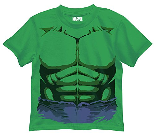 Marvel Little Boys' T-Shirt, Hulk Kelly Green, - Superhero T-shirt Green