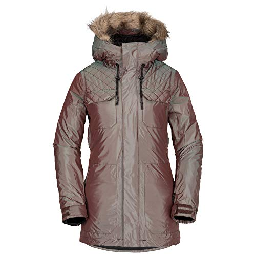 Volcom Women's Shadow Insulated Snow Jacket, Irridescent Magenta, Small