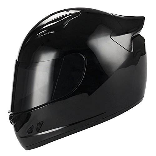 1STORM MOTORCYCLE BIKE FULL FACE HELMET MECHANIC GLOSSY BLACK