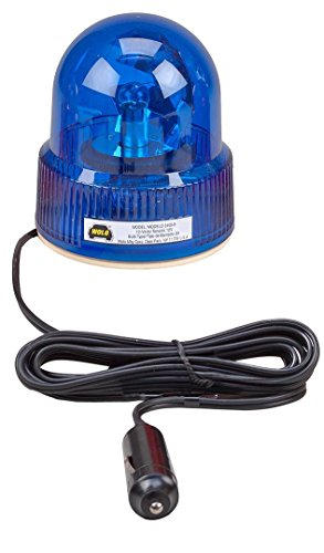 (Wolo (3105-B) Beacon Light Rotating Emergency Warning Light - 12 Volt, Blue Lens)