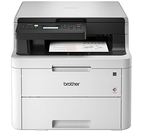 Brother HL-L3290CDW Compact Digital Color Printer Providing Laser Printer Quality Results with Convenient Flatbed Copy & Scan, Wireless Printing and Duplex Printing, Amazon Dash Replenishment Enabled