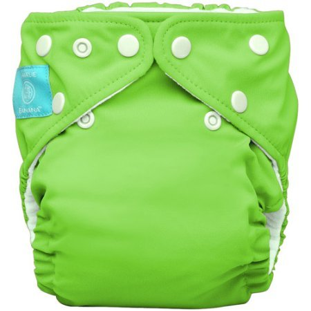 Charlie Banana 2-in-1 Reusable Diapering System Baby Cloth Diaper One Size, Includes 1 Diaper and 2 Inserts, Green