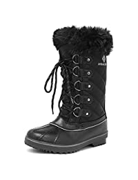 DREAM PAIRS Women's River Mid-Calf Winter Snow Boots