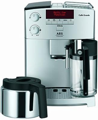 AEG CG 6600 - Cafetera espresso eléctrica, color plateado: Amazon ...