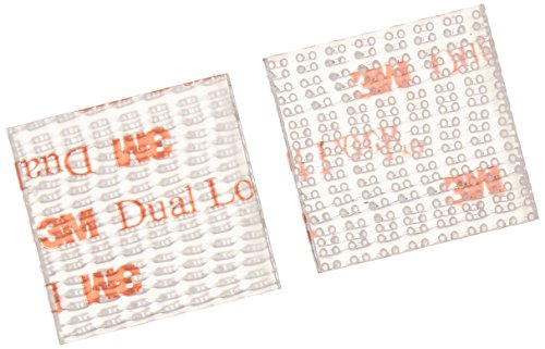 3M SJ3560 1in X 1in - 100 per pack Reclosable Fastener (1 Pack) ()