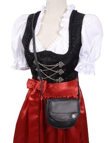 Trachtentasche/Dirndltasche/Damentasche Handtasche/Umhängetasche/Ledertasche - Schwarz