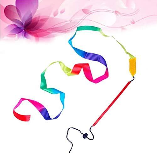 LIOOBO Cinta de Gimnasia r/ítmica Ajustable de 1pc Art con Bastones ni/ños Bailando serpentinas Riband Varilla giratoria