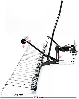 WilTec Remolque escarificador quitamusgo aireador cortacésped ...