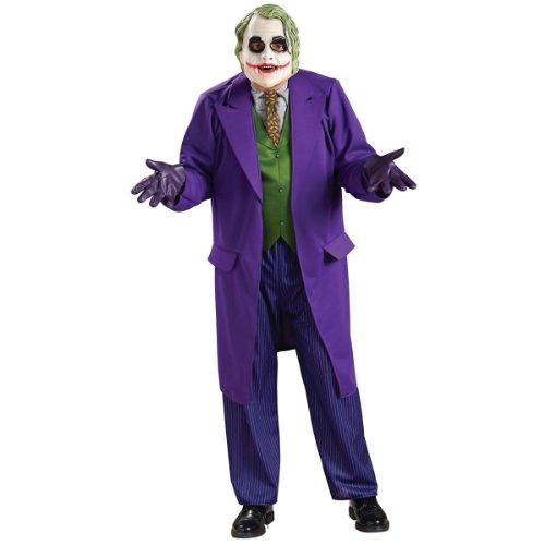 Batman And Joker Halloween Costumes (Rubie's Costume Batman The Dark Knight Deluxe The Joker Costume, Black/Purple, Plus)