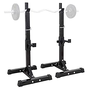 TANGNADE Pair of Adjustable Squat Rack, Dumbbell Racks Stands Free Bench Press Stands Gym/Home Gym Portable Dumbbell Racks Stands