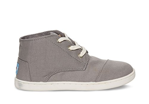Toms Grey Canvas Youth Paseo-Mid 10002697-GREY (SIZE: - The Paseo Mall
