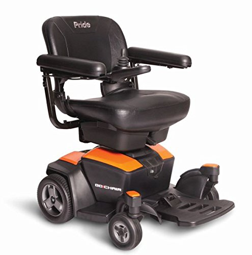 New GO CHAIR Pride Mobility Travel Electric Powerchair + 18AH batteries upgrade (Amber Orange)