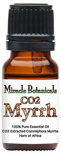 Miracle Botanicals CO2 Extracted Myrrh Essential Oil - 100% Pure Commiphora Myrhha - Therapeutic Grade - 10ml by Miracle Botanicals